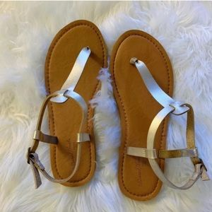 Target Universal Thread Gold Thong Summer Sandals